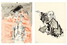 Exhibition of new drawings by German artist Georg Baselitz on view at Gagosian New York
