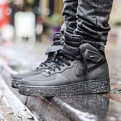 check out these cool nike shoes... very affordable at coolblackattire.com #black #nike