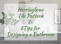 A herringbone tile pattern featured in a sophisticated bathroom remodel and tips for a classic bathroom by Nashville's Kristie Barnett, The Decorologist. Grey House Paint, Herringbone Tile Pattern, Powder Room Design, Classic Bathroom, Mirror Tiles, Glass Shower Doors, Mirror With Lights, Tile Patterns, Interior Inspiration