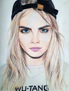 art, eyes, beautiful, drawing, lips, picture, style, cara delevingne