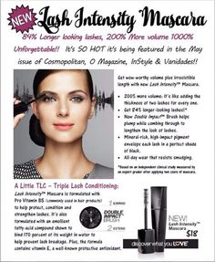 HOT OFF THE PRESS... just released!!!Our mascara is already Amazing!!! I can't wait to try this!!   I need product testers for this product for the end of April - it's being released april 22nd!!! Who wants to try it at a discounted price for being a tester?!? Comment below! (Only if you don't currently have a Mary Kay consultant!)   BRAND NEW! Lash Intensity™ Mascara❤️ Get wow-worthy volume plus irresistible length with new Lash Intensity™ Mascara.
