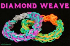 How to Make a Rainbow Loom Diamond Weave Bracelet