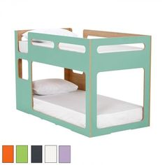 Let your child's dreams soar above the clouds with the delightful My Place bunk bed. Perfect for siblings or the social butterfly who often has friends around, the bed features a fun design available in a range of colourful options. By Domayne Australia