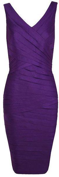 ALEXON  Purple Shimmer Shutter Dress - Lyst