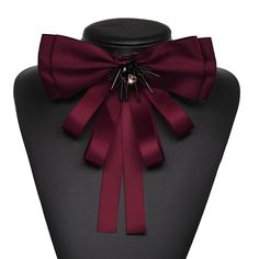 : Buy JURAN Fashion Jewelry New Classic Statement Scarf Brooches Pins Hot Sale Bowknot Trendy Cloth Clip Women Tie Bow Brooches Charm from Reliable scarf brooch pin suppliers on Wholesale the cheapest price Jewelry Accessories, Fashion Accessories, Fashion Jewelry, Fashion Earrings, Satin Bows, Ribbon Bows, Women Bow Tie, Tie Crafts, Tie Styles