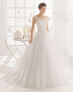 vestido de noiva MONTREAL de AIRE BARCELONA 2016 estilo princesa em renda e tule