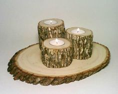 Love the idea with the chopped logs. How about mini ones for coasters?