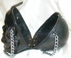 Leather Skull Purse Clutch by GriffinLeather on Etsy, $350.00