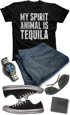 caf6cca5aa5 Men s My Spirit Animal is Tequila T-Shirt Cinco De Mayo Drinking