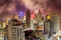 Stormy Detroit skyline from Roger Beech.