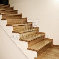 Modern Spaces Oak Stairs Design, Pictures, Remodel, Decor and Ideas Open Stairs, Wood Stairs, House Stairs, Oak Skirting Boards, Stairs Skirting, Stairs Without Railing, Staircase Design Modern, Stair Design, Staircase Ideas