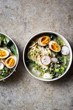 Bok Choy & Turnip Miso-Ramen with Soy Eggs - Dishing Up the Dirt