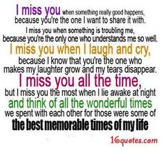 I miss you quotes for him - Bing Images