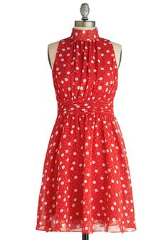 I absolutely feel in love with this dress.    Windy City Dress in Strawberry, #ModCloth