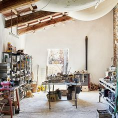 Workspace / Studio - Emily Young in Tuscany