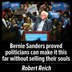 Bernie Sanders proved politician can make it this far without selling their souls.