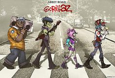 "134 Gorillaz - English Virtual Band Damon Albarn Jamie Hewlett 21""x14"" Poster"
