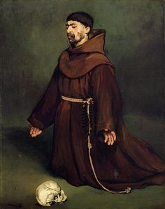 "Edouard Manet: ""The monk at prayer"", 1865."