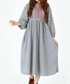 linen Waist Lace doll long dress by MaLieb on Etsy