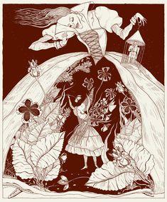 Illustrations for old fairy tales by Julia Valeeva, via Behance