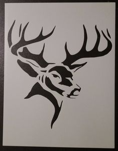 Deer Stencil, Cool Stencils, Animal Stencil, Pumpkin Stencil, Custom Stencils, Wood Burn Designs, Wood Carving Designs, Wood Carving Patterns, Pyrography Patterns