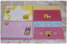 10 konvolutter, 2 ulike design (ikke i salg lenger, linken er til bloggen min).