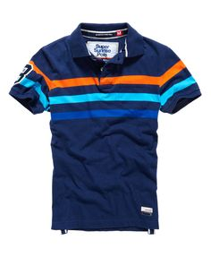 Mens - Beach Park Polo in Princeton Blue Marl | Superdry