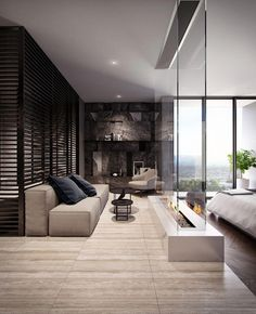 Modern Bedroom Design, Master Bedroom Design, Contemporary Bedroom, Home Interior Design, Master Bedrooms, Bedroom Designs, Modern Bedrooms, Luxury Master Bedroom, Teenage Bedrooms