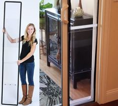 The apartment pet door is a doggie door that you can use in an apartment, assuming your apartment has a balcony or a bottom level walk out door. Simply open your sliding glass door about a foot wide, ...