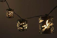 Tin can dragonfly lanterns