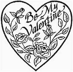 kids coloring pages valentine day roses printable - Rose Coloring Pages Teenagers