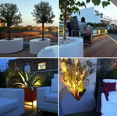 #Contemporary #modern #powder #coated #planters #design by mylandscapes #troughs #containers #garden #roof #terrace