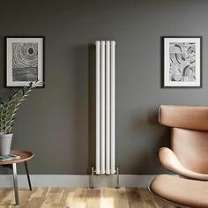 Designer Radiator Vertical Horizontal White Flat Panel Oval Column Double Rads | eBay