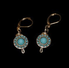 teal and gold earrings by PrettyLittleThingsz on Etsy, $9.00