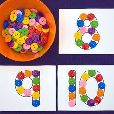 fine motor number cards for preschool and kindergarten