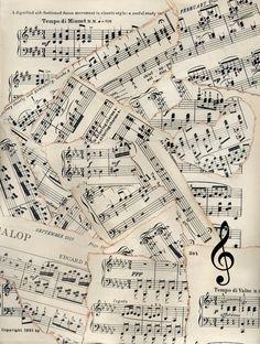 All Things Vintage: December 2012 - multiple sheet music