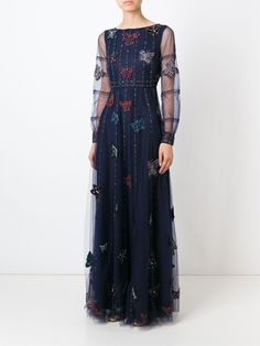 Valentino Butterfly Embellished Evening Dress - Stefania Mode - Farfetch.com
