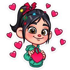 You have my heart baby girl. Disney Princess Cartoons, Disney Cartoons, Kawaii Disney, Disney Love, Mickey Mouse Cartoon, Girl Cartoon, Vanellope Y Ralph, Drawing Scenery, Cute Disney Drawings
