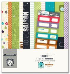 Bientôt en stock à http://www.boitascrap.com/ !  La nouvelle collection 4h37 - 6 allée des Marroniers