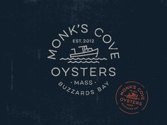 Monks Cove Oysters Logo