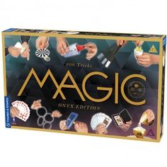 Onyx Edition 200 Tricks Magic Kit - Educational Toys Planet. Great gift for 8 years old child. Prepare to astound your many family and friends audience members with the 200 amazing magic tricks from Thames & Kosmos' Onyx Edition Magic Kit! Develops Skills - pretend play, manipulative skills, performing skills, concentration . #toys #learning #educational #gifts #child https://www.educationaltoysplanet.com/onyx-edition-200-tricks-magic-kit.html