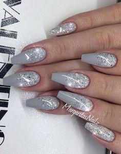 Winter Acrylic Nail Designs Idea pin kimmie louise on winter nails acrylic nail designs Winter Acrylic Nail Designs. Here is Winter Acrylic Nail Designs Idea for you. Winter Acrylic Nail Designs short acrylic nail designs you can use in s. Cute Acrylic Nails, Glitter Nail Art, Acrylic Nail Designs, Silver Acrylic Nails, Holiday Acrylic Nails, Silver Glitter Nails, Holiday Nails, Christmas Nails, Grey Nail Art