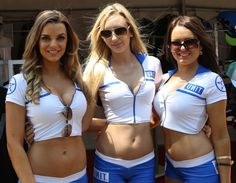 Gorgeous UNIT grid and pitlane babes