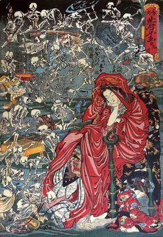 courtesan of hell by kawanabe kyosai, 1865