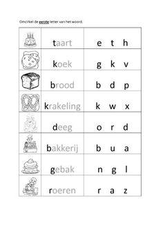 thema bakker - Google zoeken Kindergarten Themes, Mishka, Worksheets, Bakery, Letters, Restaurant, Teaching, School, Bakery Shops