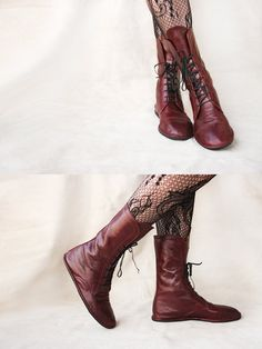 Impulse in Burgundy  Handmade Leather Boots  by TheDrifterLeather, $150.00