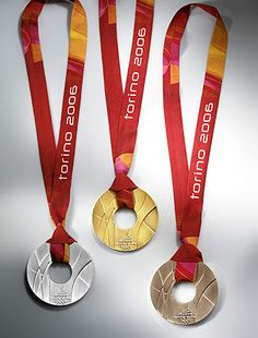 Torino Olympic medals 2006-  need to use this idea for family olympics!