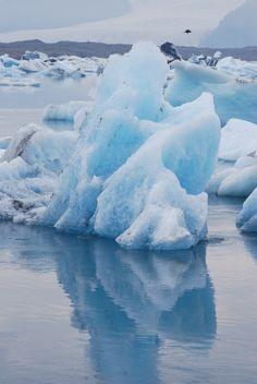 Laguna glaciar en Islandia