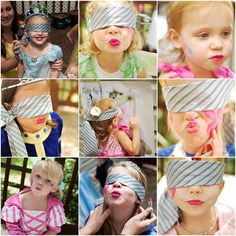 """Kiss the Frog"" game - great idea for a princess party!"