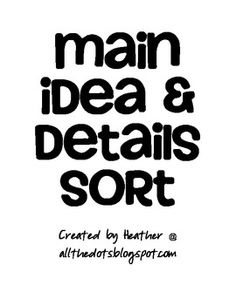MAIN IDEA & DETAILS GAME - TeachersPayTeachers.com